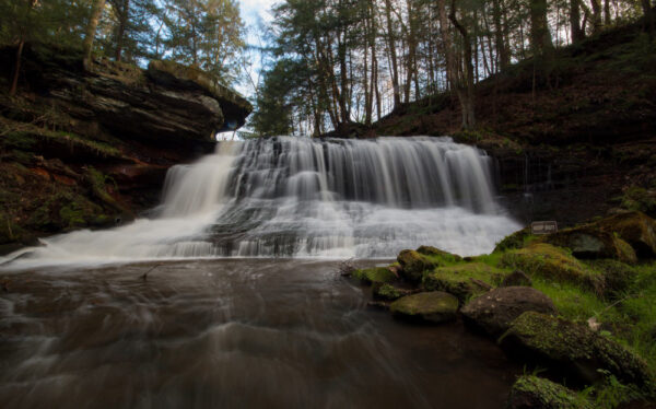 How to get to Springfield Falls in Mercer County, Pennsylvania