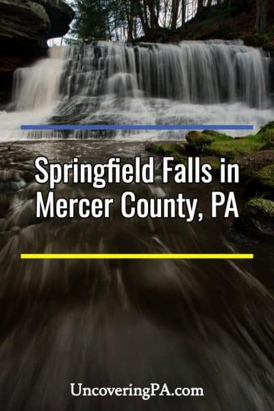 Springfield Falls in Mercer County, PA
