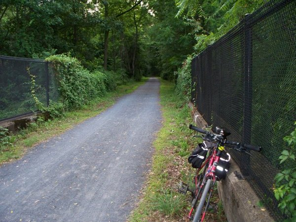 A portion of the Bartram Rail Trail in Pennsylvania.