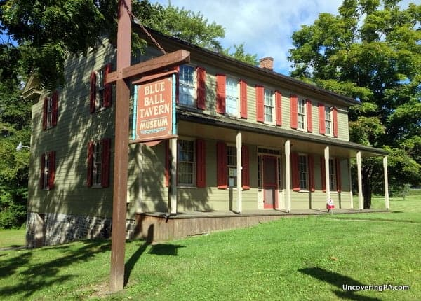 Blue Ball Tavern serves as the Perry County Historical Society Museum and the starting point for your hike in Little Buffalo State Park.