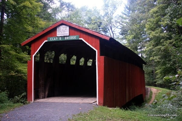 Clay's Covered Bridge in Little Buffalo State Park.