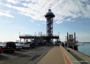 Visiting Erie Bicentennial Tower in Erie, Pennsylvania.