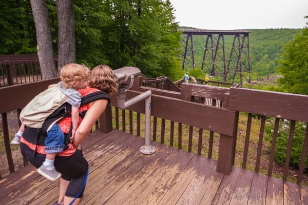 Looking at Kinzua Bridge in McKean County, pennsylvania.