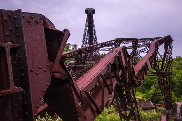 Kinzua Bridge is one of the best ruins in Pennsylvania to visit.