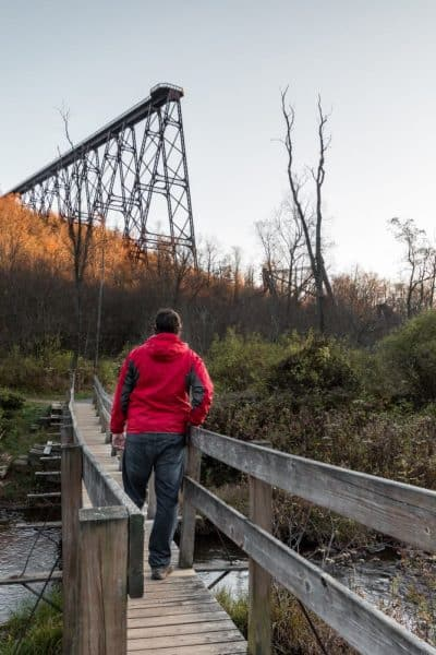 Exploring the ruins of Kinzua Bridge in McKean County, Pennsylvania