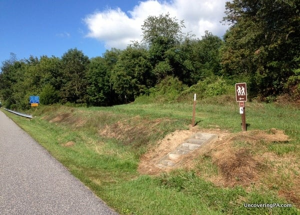 The starting point for the Middle Ridge Trail in Little Buffalo State Park.