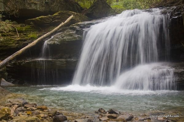 Lower Jonathan Run Falls in Ohiopyle State Park in PA