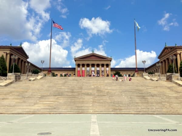 Running up the famous Rocky Steps is a great free thing to do in Philly.