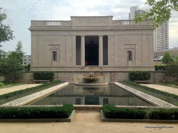 Visiting the Rodin Museum in Philadelphia, Pennsylvania.