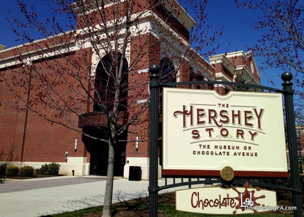 Visiting The Hershey Story in Hershey, Pennsylvania.