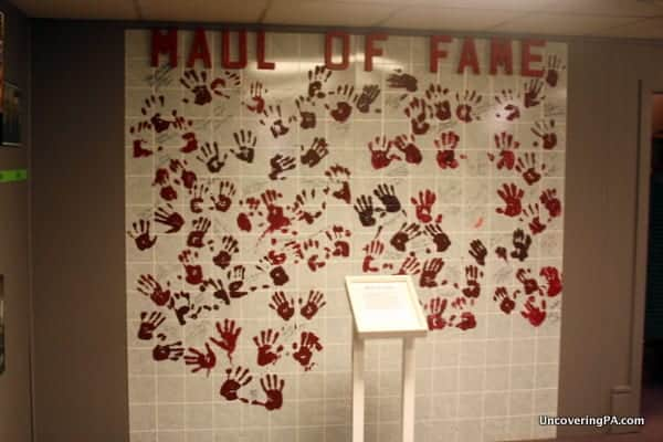The Maul of Fame features handprints from the cast and crew of The Night of the Living Dead.