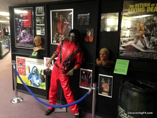Some of the other zombie-related displays at The Living Dead Museum in Evans City, Pennsylvania.
