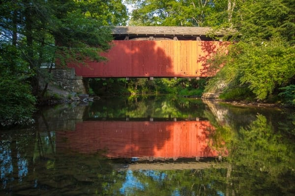 How to get to Zimmerman Covered Bridge in Schuylkill County, Pennsylvania