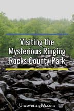 Ringing Rocks County Park in Bucks County, Pennsylvania