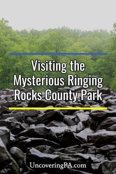 Ringing Rocks County Park in Bucks County, Pennsylvania