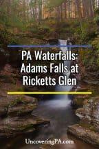 Adams Falls in Ricketts Glen State Park