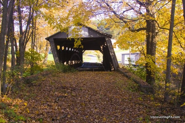 Dimmsville Covered Bridge in Juniata County, Pennsylvania.