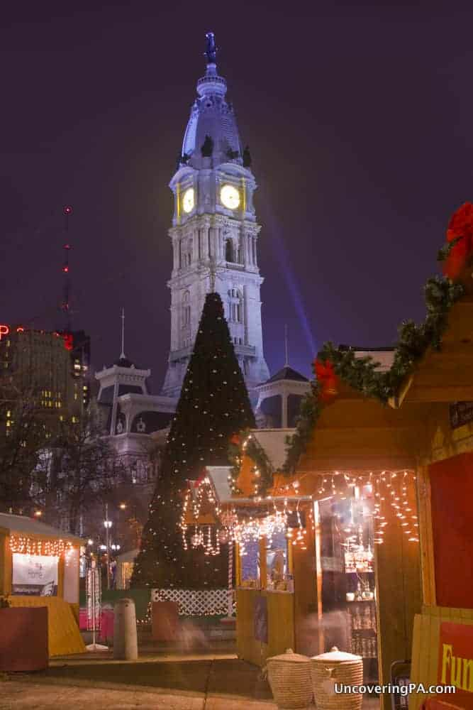 Christmas Nighttime Photography in Philadelphia, PA