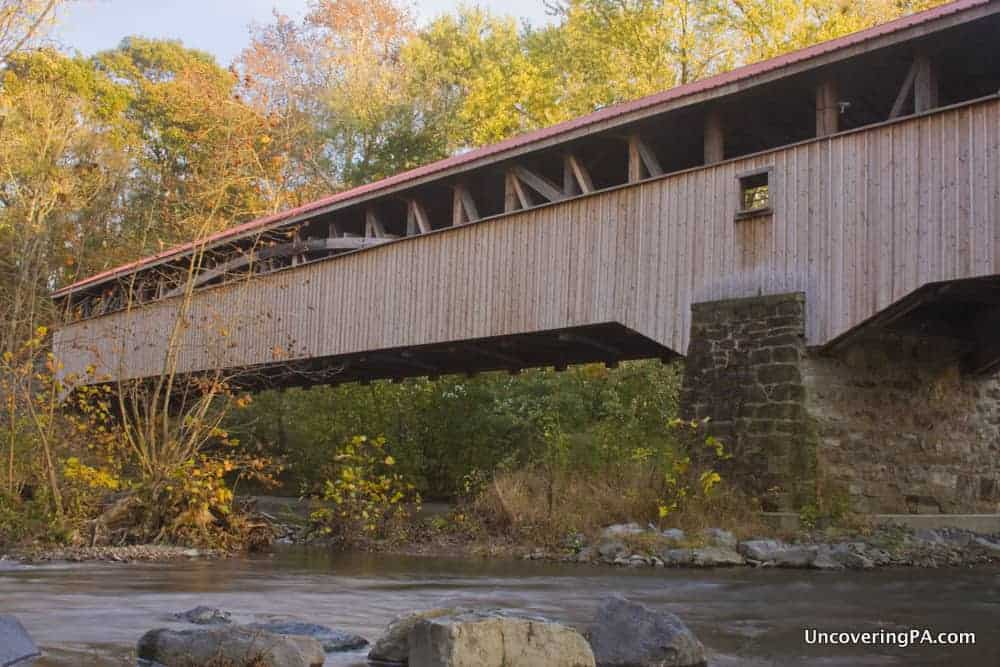 Academia Pomeroy Covered Bridge in Juniata County, Pennsylvania.