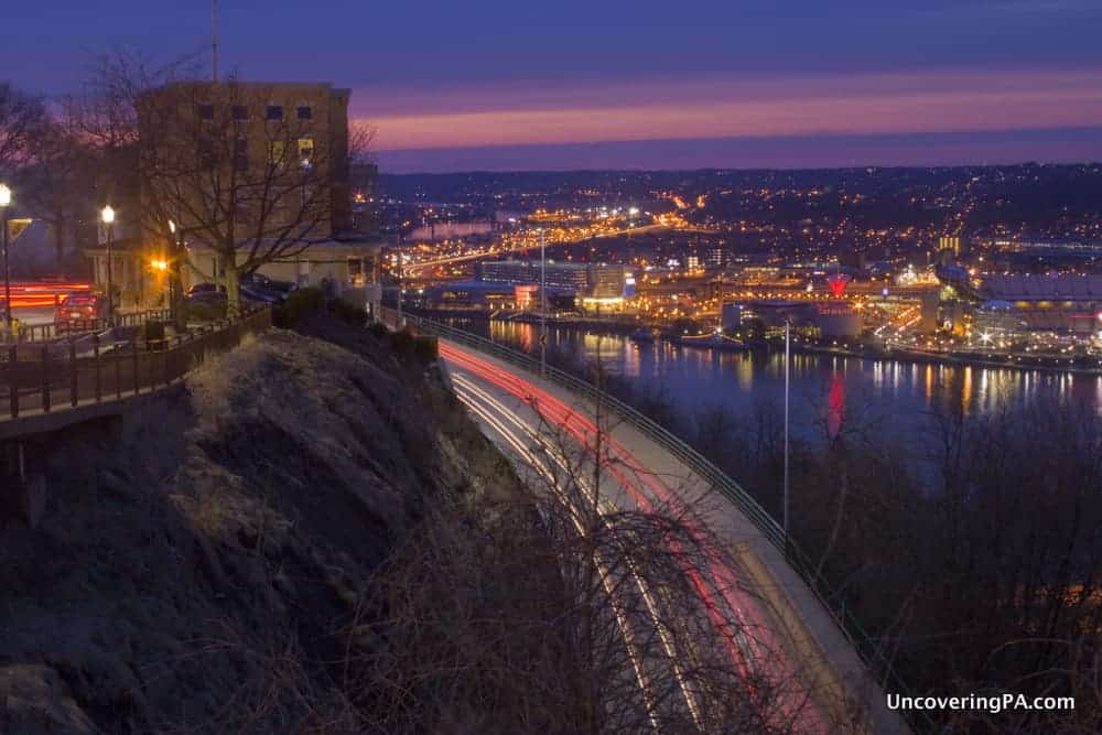 The view from another angle from Mount Washington in Pittsburgh, Pennsylvania.