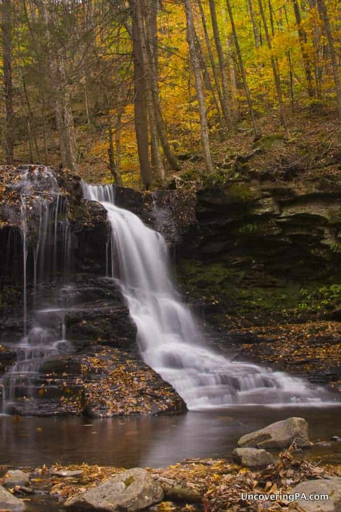 Dry Run Falls in Loyalsock State Forest, Sullivan County, PA