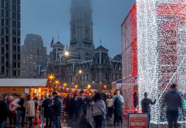 The Christmas Village in Philadelphia, PA