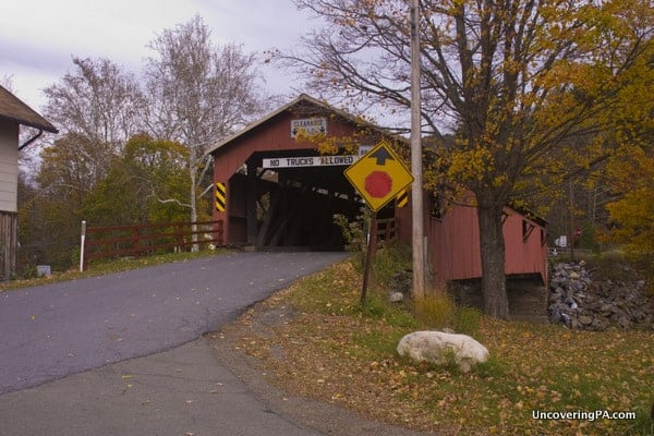 Another view of Forksville Covered Bridge in Sullivan County, Pennsylvania.