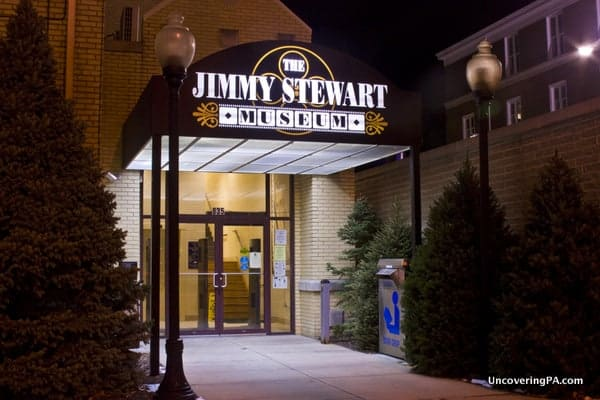The Jimmy Stewart Museum in downtown Indiana, Pennsylvania.