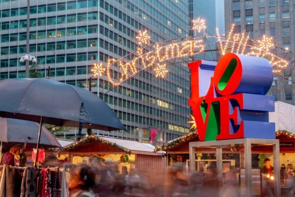 Christmas Village is one of the top Christmas things to do in Philadelphia, PA