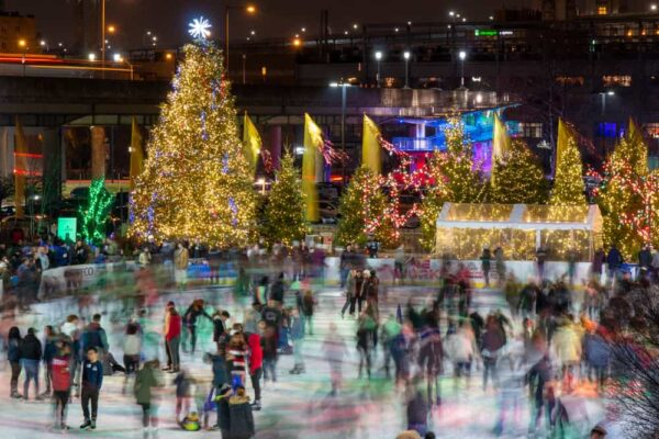 RiverRink Winterfest is a great Christmas thing to do in Philadelphia, PA