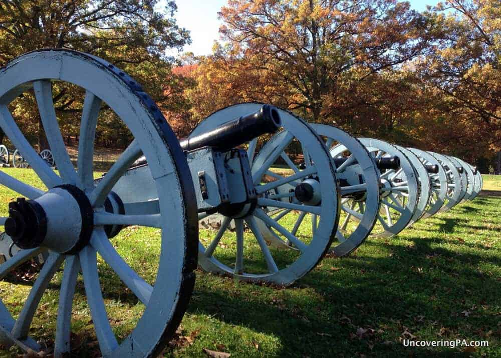 Visiting Valley Forge National Park in Montgomery County, Pennsylvania.