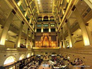 Visiting the Wanamaker Organ in Philadelphia, Pennsylvania.