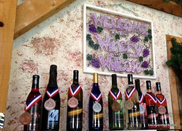 The many award-winning wines at the Winery at Wilcox.