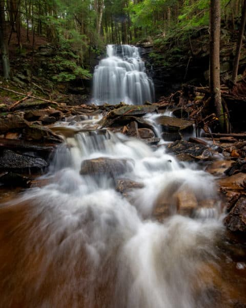 Dutchman Run Falls in Pennsylvania