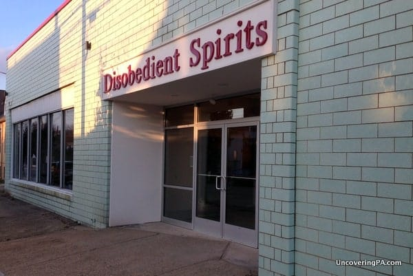 The exterior of Disobedient Spirits in Homer City, Pennsylvania