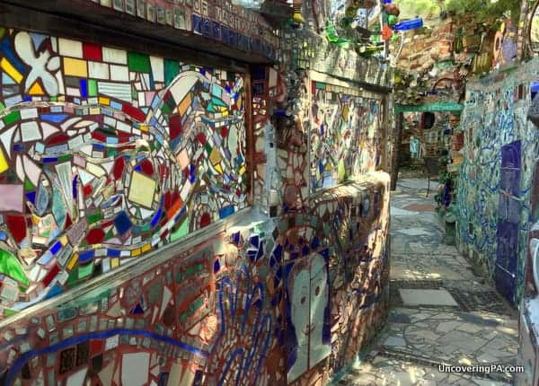 Visiting the Magic Gardens in Philly.