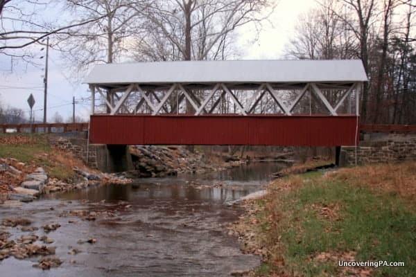Saint Mary's Covered Bridge in Huntingdon County, Pennsylvania.
