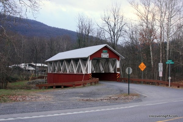 Saint Mary's Covered Bridge in Huntingdon County, Pennsylvania along Route 522