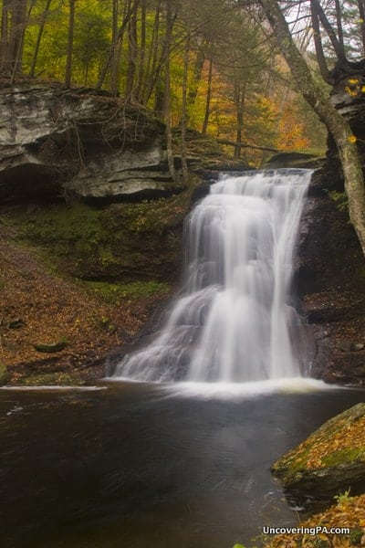 Visiting Sullivan Falls in State Game Lands 13, Sullivan County, Pennsylvania.