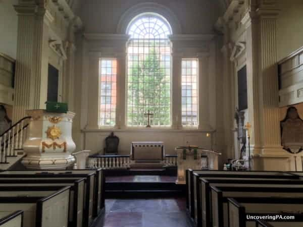 Visiting Christ Church in Philadelphia's Old City