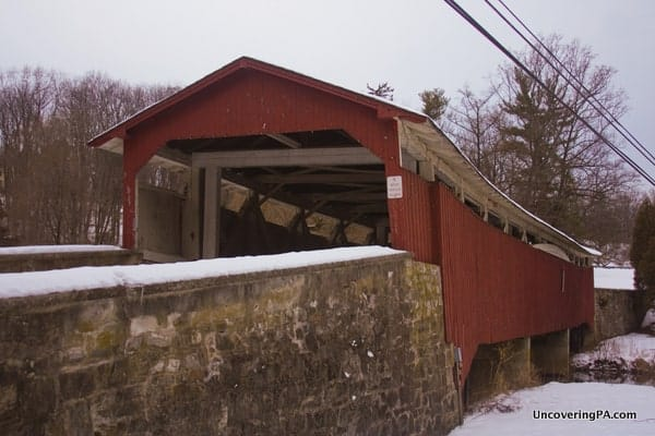 Bogert's Covered Bridge crosses Little Lehigh Creek in Leigh County, Pennsylvania.
