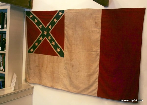 A Confederate flag seen while visiting the Bucks County Civil War Museum in Doylestown, Pennsylvania.