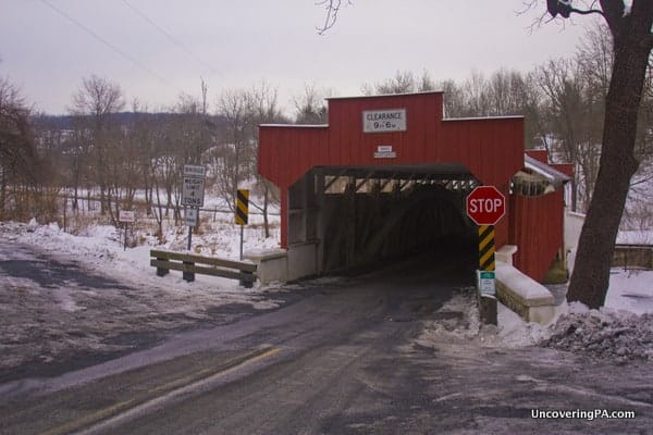 Visiting Geiger's Covered Bridge in Lehigh County, Pennsylvania.