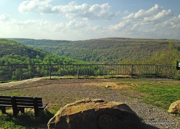 The view from the Kennerdell Overlook in Venango County, Pennsylvania.