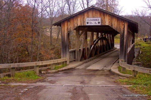 How to get to Knapp Covered Bridge in Bradford County Pennsylvania.
