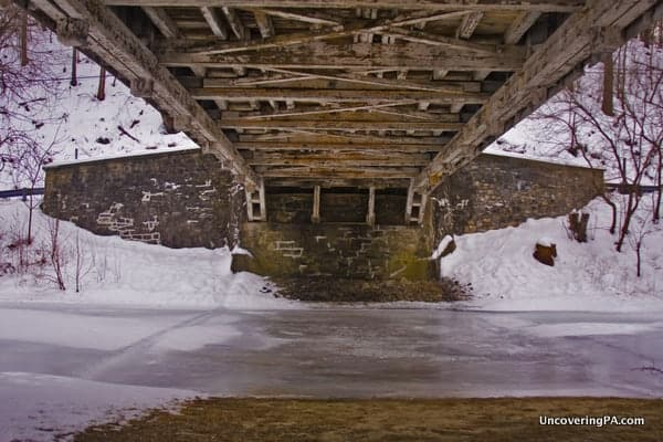 UncoveringPA's Top Pennsylvania Travel Photos of 2015: Manasses Guth Covered Bridge in Lehigh County