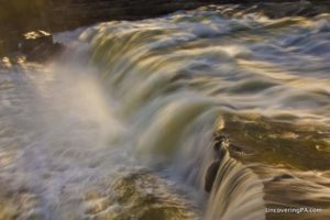 Visiting Ohiopyle Falls in the Laurel HIghlands of Pennsylvania.