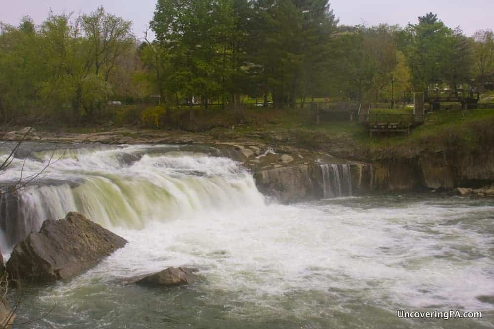 Ohiopyle Falls from the far side of the Youghiogheny River.