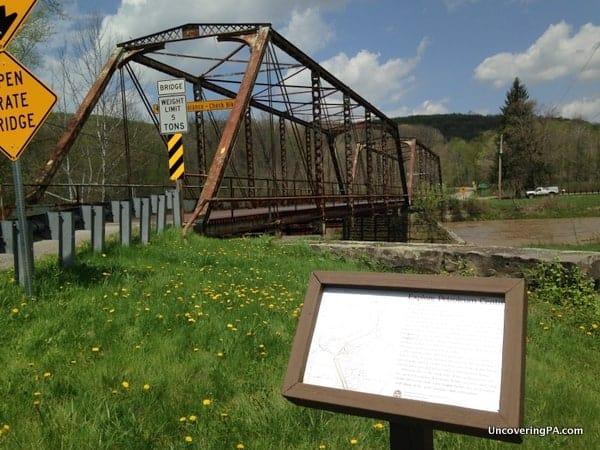 The Petroleum Centre Walking Trail in Oil Creek State Park in Venango County, Pennsylvania
