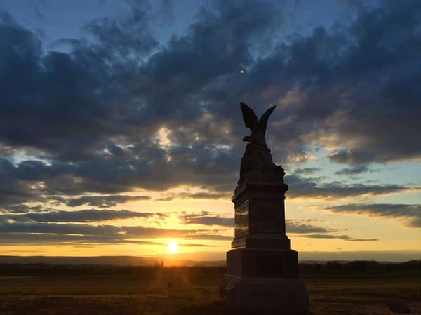 Watching the sunset is a free things to do in Gettysburg, Pennsylvania.